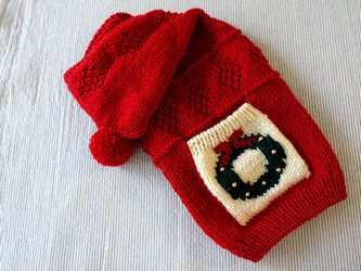 クリスマスセーター「赤」犬のセーターの画像