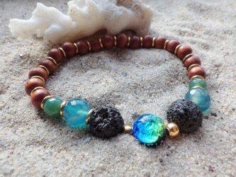ケラマブルー* Lava Stone Diffuser Bracelet☆アロマブレスレットの画像