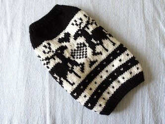 トナカイのセーターМS「黒」犬のセーターの画像
