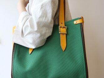 Lamtana-ランタナ- レザー&帆布 キャンバス 着せ替え トートバッグ Mサイズの画像