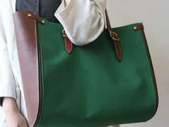 Lamtana-ランタナ- レザー&帆布 キャンバス 着せ替え トートバッグ Lサイズの画像