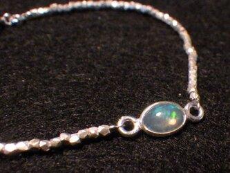 Opal&Karen silver Bracelet ☆10月誕生石☆オパールの画像