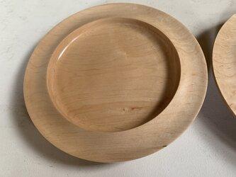 カエデの木のリム皿  #2の画像