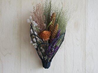 《ラタン》穂と花のスワッグ の画像