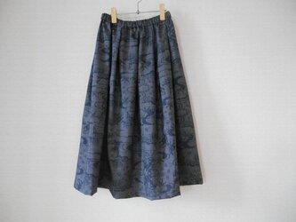 大島紬リメイクスカートの画像