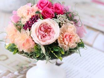 la douceur (ラ ドゥスール)  プリザーブドフラワー ピンク 誕生日・結婚祝い・退職祝いの画像