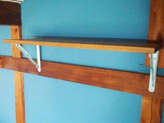 送料無料 フォールディングシェルフ 折りたたみデスク 棚板 ナラ材つるつる仕上の画像