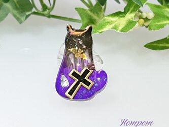 ネコのハロウィンヘアゴム ホムポムの画像