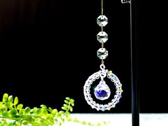水晶と猫目石の宇宙のサンキャッチャー ☆ 一点物の画像
