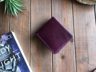 イタリアンレザーを使用した二つ折り財布の画像
