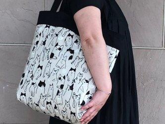 コンパクト おかいのもかばん  ねこ・ねこ 受注製作の画像