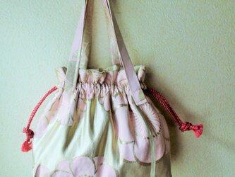 帯バッグ 巾着バッグ 夢みる花の画像