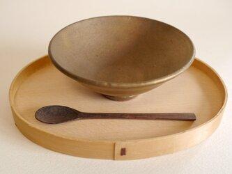 燻金の飯碗の画像