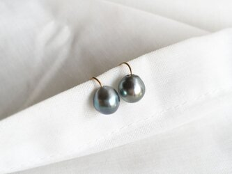 【K14GF】Tahitian Baroque Pearls Earringの画像