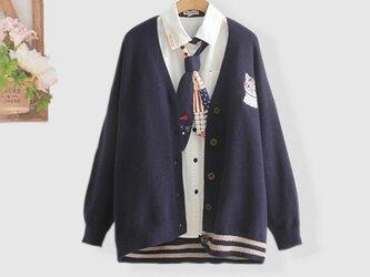 手編みで 高品質の 半袖セーター  ニットカーディガン ファッション レディースの画像