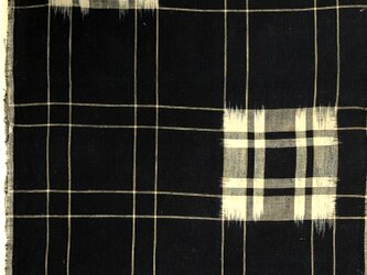 f0045古布・古裂 格子文様☆木綿布団の解き 一幅130cm☆木綿☆の画像