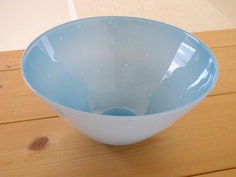 ガラスボウル この中の絵 -星 bowl(青色)の画像