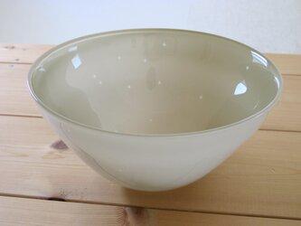 ガラスボウル この中の絵 -星 bowl(うぐいす色)の画像