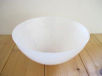 ガラスボウル この中の絵 -星 bowl(白色)の画像