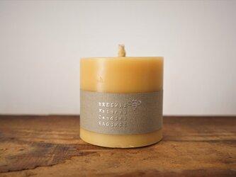 天然繊維の蜜蝋キャンドル「蓮」直径7cmの画像