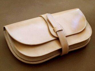 サドルレザーのクラッチバッグ【受注製作】の画像