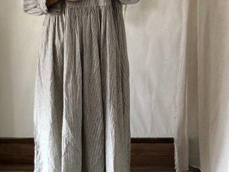 リネン コットン ロング ワンピース 〈 hickory 〉の画像