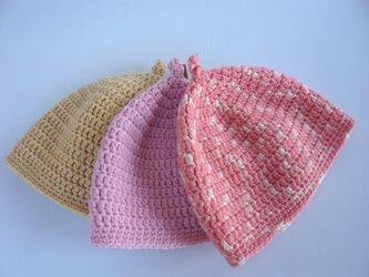 草木染毛糸のどんぐり帽子ベビー用の画像