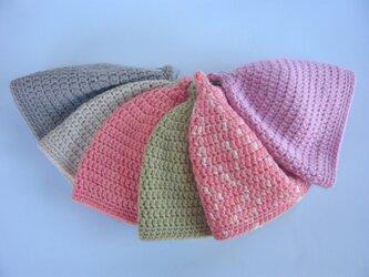 草木染毛糸のどんぐり帽子1~3才用の画像