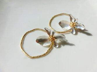 flower hoop -silver-の画像