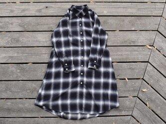 『月光』 shirt onepiece  播州織 シャツワンピースの画像