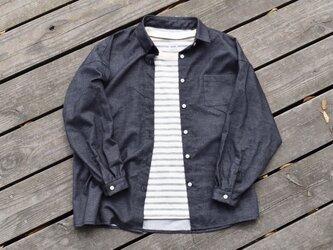 『workman』 cotton wide shirt 播州織 コットン ワイドシャツの画像