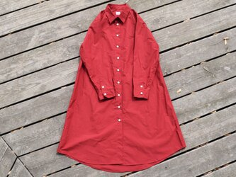 『秋音』shirt onepiece  播州織 シャツワンピースの画像