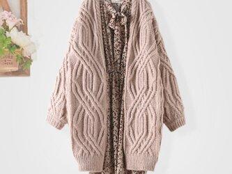 手編み で高品質の 半袖セーター ニットトップス 着痩せ レディース 通学 通勤の画像