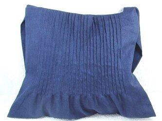 藍色のショルダーバッグの画像