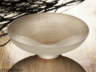 無色透明ガラスの器 -「 The Vessel of Light - 月明かりの器 」● 直径約18cmの画像