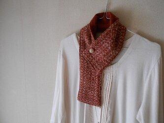 ベビーキャメルの手紡ぎ手織りミニマフラーの画像
