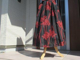着物リメイク 銘仙のステキなスカートの画像