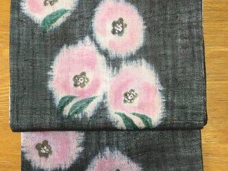 ロマンチックな花咲く名古屋帯の画像