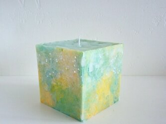 立方体キャンドルの画像