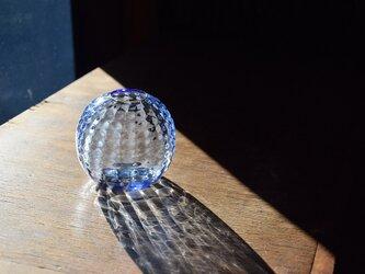ワッフル丸花瓶ブルーの画像