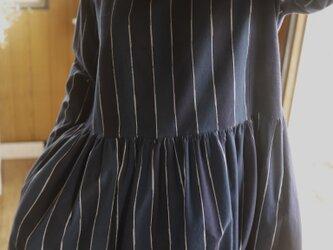 久留米絣2種ギャザースカートワンピースの画像