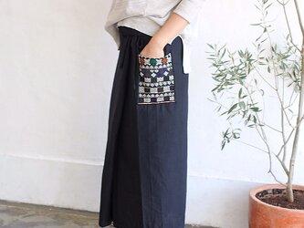 ヤオ族刺繍ポケットラップスカートの画像