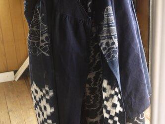 古布と久留米絣濃紺カシュクールの画像