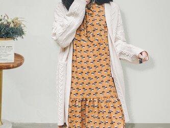 冬 ベージュ 手編 高品質 レディース シンプル ニット ニットトップス ニットカーディガン セーターの画像