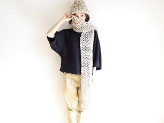 knit muffler(beige) / ニット マフラー(ベージュ)の画像