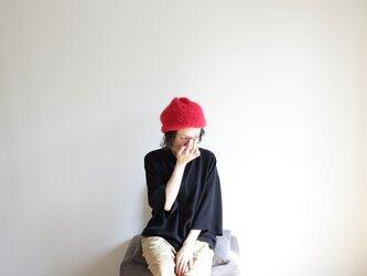 knit beret(red) / ニット ベレー(赤)の画像