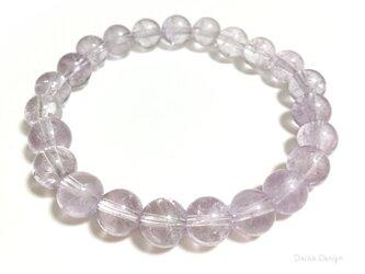 アメジスト ブレスレット 2月誕生石 淡い 紫 レア 天然石 ☆ ダイナ デザイン ☆ 8ミリの画像