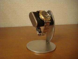 新作!プラスドライバーでだ円パイプの角度を変えることが出来る腕時計スタンド ブラック 130117の画像