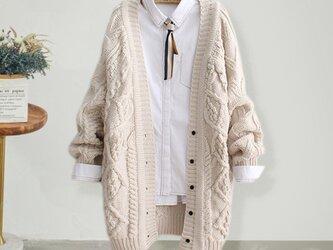 手編み 冬 ♪ ニット ニットトップス ニットカーディガン セーター カーディガンの画像