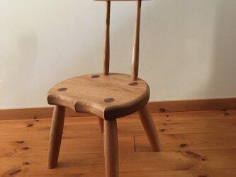 小椅子 ch0711 クルミ 子ども椅子の画像